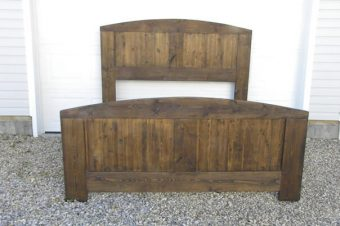wood arched panel bed, custom queen and king, Edmonton
