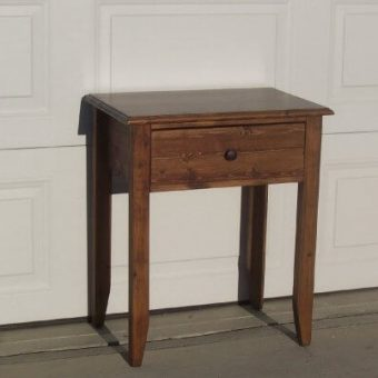 solid wood bedside table, Edmonton