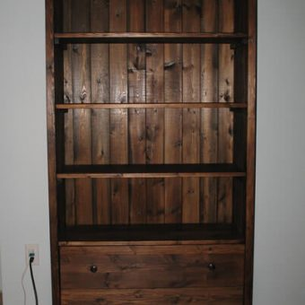 solid wood bookcase, Alberta