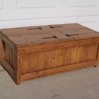 solid wood trunk coffee table, Alberta