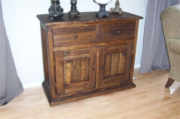 solid wood console table and media cabinet, Alberta