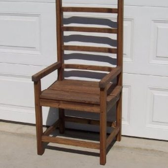 solid wood ladderback arm chair, Edmonton Alberta