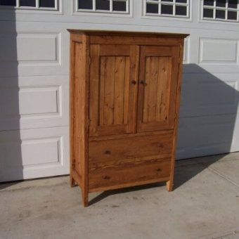 solid wood media cabinet with doors, Edmonton Alberta