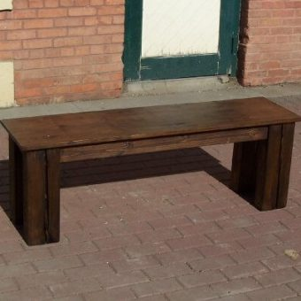 solid wood dining bench, Edmonton Alberta