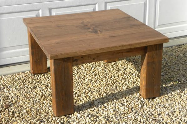 solid wood plank top coffee table, Alberta