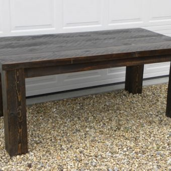solid wood rustic planktop dining table, Edmonton Alberta